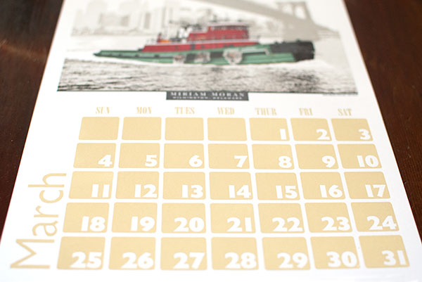 Virgin Wood Type calendar font from 2012
