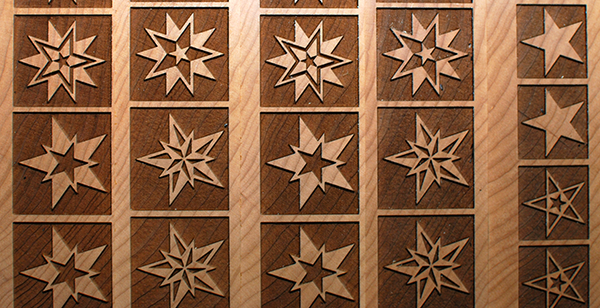 Detail of Moore Wood Type's Stars