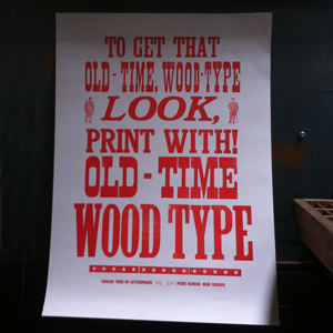 Print with Wood Type