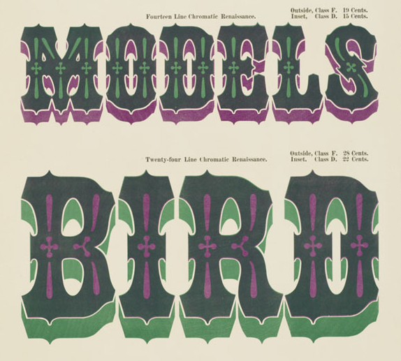 Page 96 from William H. Page, Specimens of Chromatic Wood Type