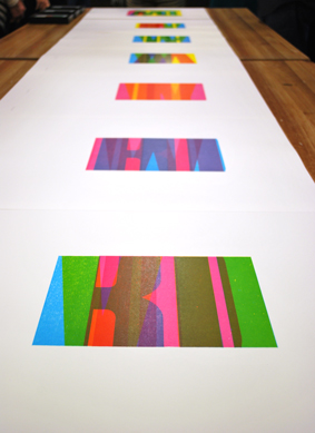"David Wolske, ""Isotype"" prints, 2014"