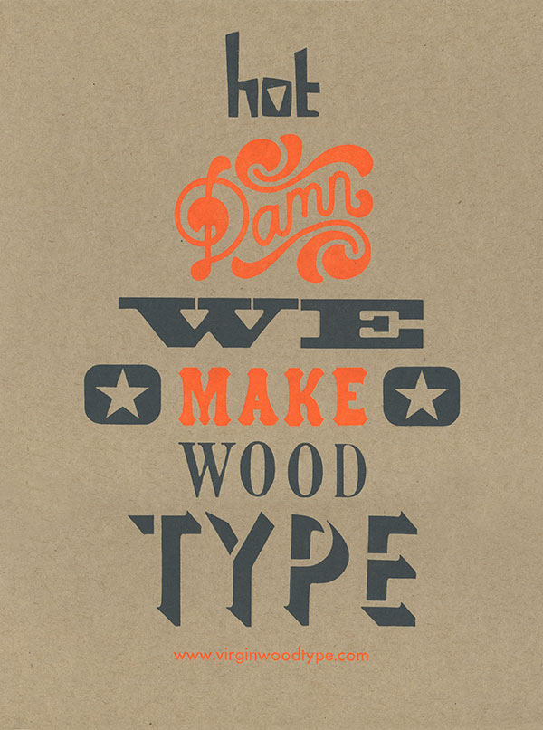 Virgin Wood Type Broadside
